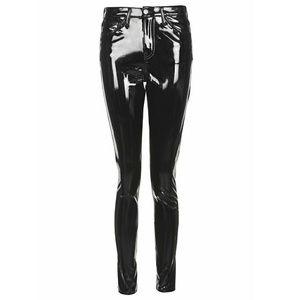 new high best choice newest Topshop MOTO Black Vinyl Jamie Jeans High Waist 28